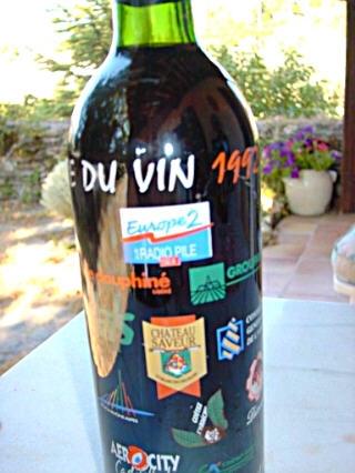 1992 - Promotion sur bouteille de vin