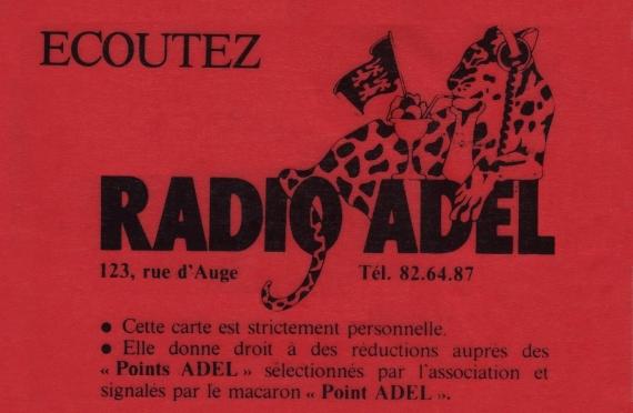 1984 -Carte de réduction - verso
