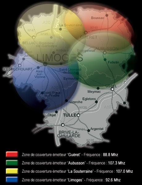 2010 - Carte des fréquences
