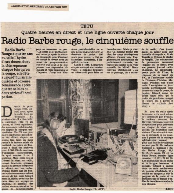 Libération - 21 janvier 1981
