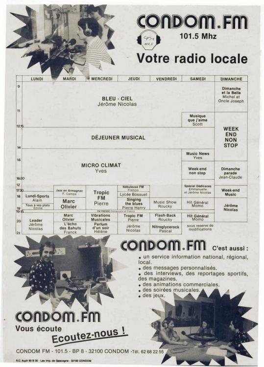Grille de Condom FM