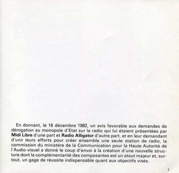 1984 - Plaquette de Radio Alligator (01)