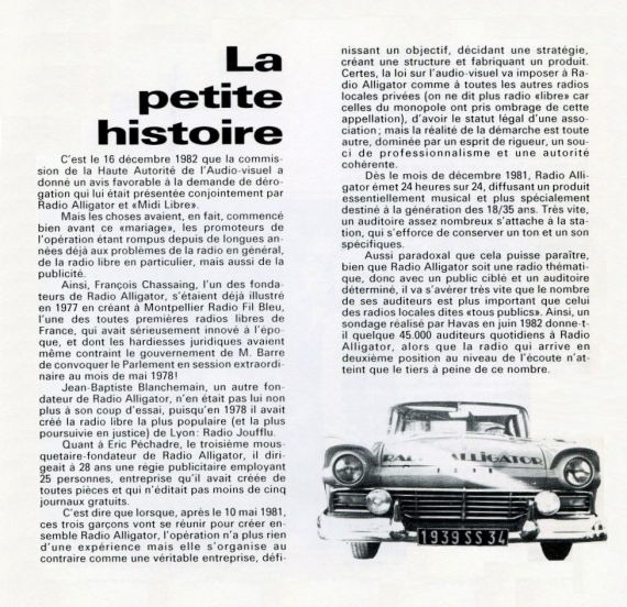 1984 - Plaquette de Radio Alligator (03)
