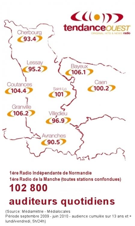 2009 - fr��quences de Tendance Ouest