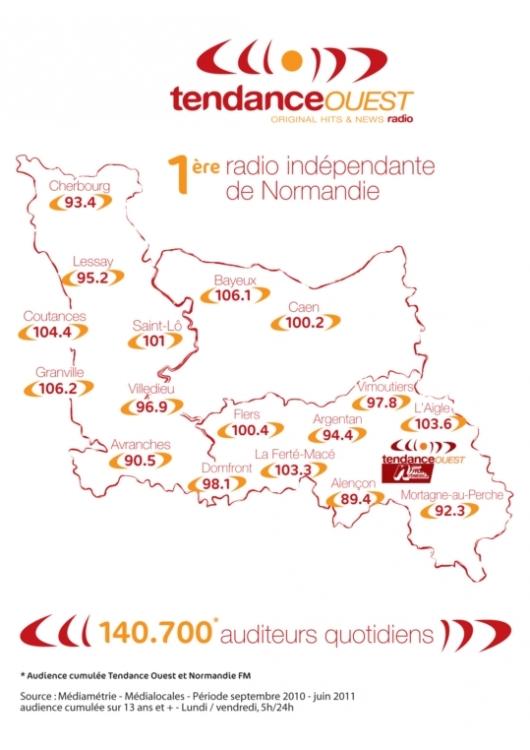 2012 - fr��quences de Tendance Ouest
