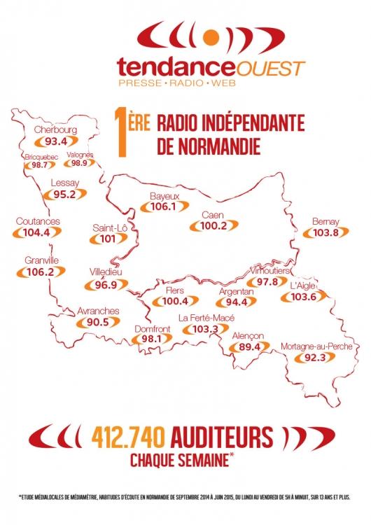 2015 - Fr��quences  de Tendance Ouest