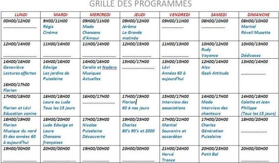 2015 - 2016 Grille des programmes