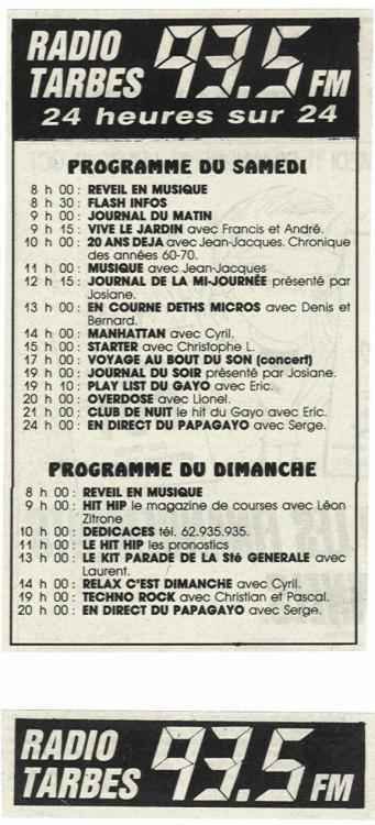 1986 - Les programmes