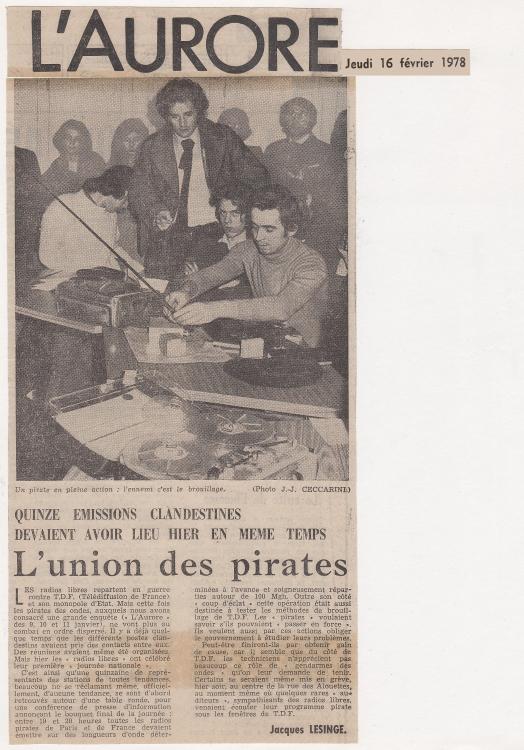 1978 - L'Aurore 16 février