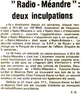 1980 - Paris Normandie 27 mars