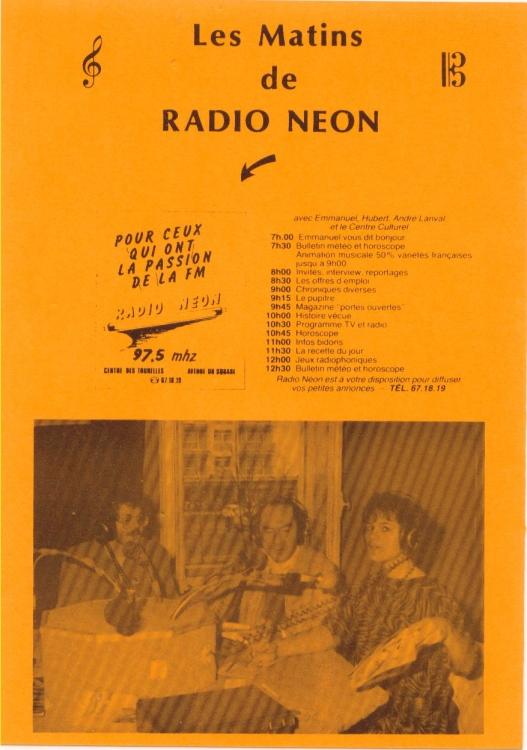 Programme de Radio N��on