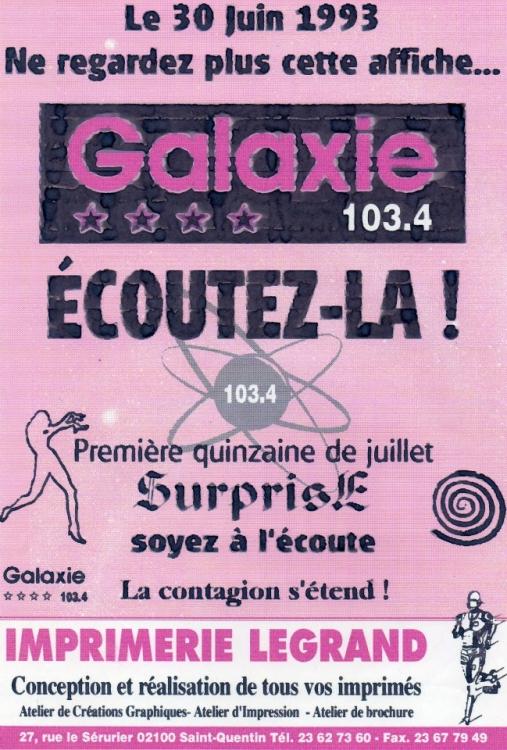 1993 - Premi��re affiche cr����e par Xavier LENFANT