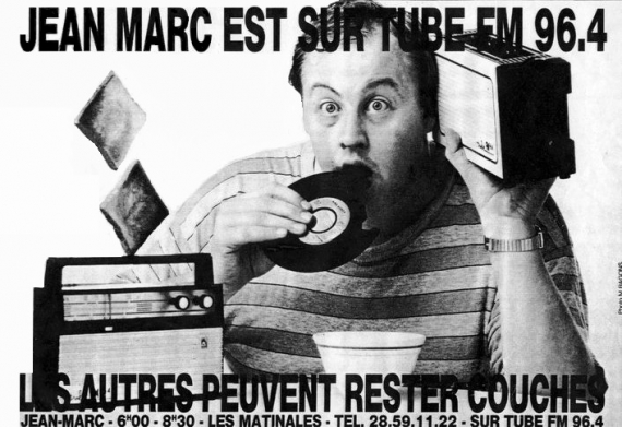 1986 - Pub presse avec Jean-Marc RASCHIA