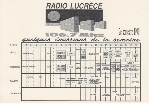 1990 - Grille de programmes