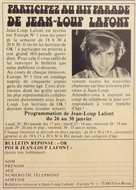 1976 - OK Magazine de janvier