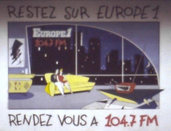 1988 - Publicité dans le métro à Paris