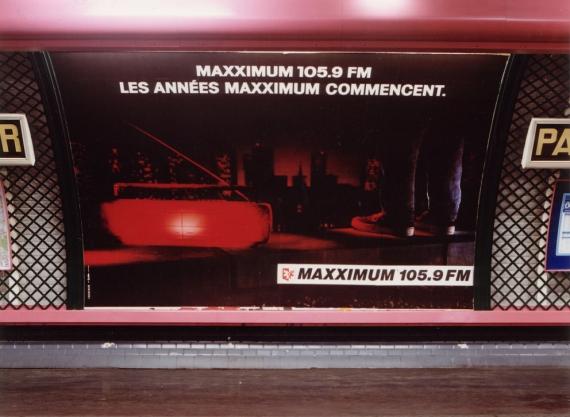 1989 - Publicité dans le métro de Paris