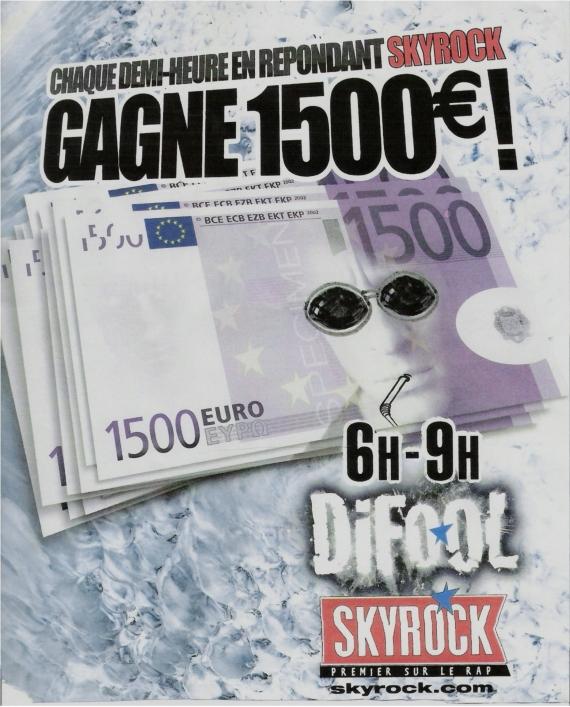 1999- Difool, gagne 1500 euros
