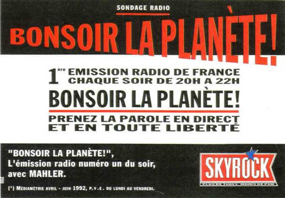 1992 - Bonsoir la Plan��te